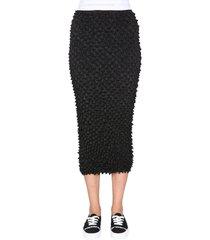 alexander wang midi skirt with logo band