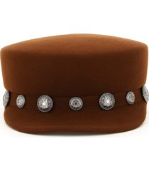 maison michel abby felt beanie with studs