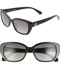 women's kate spade new york kenzie 53mm polarized cat eye sunglasses -
