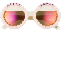 women's rad + refined bride squad round sunglasses -