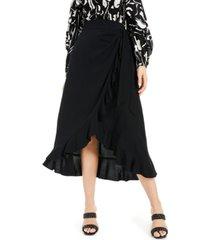 inc ruffled wrap skirt, created for macy's