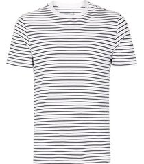 mens navy and white stripe t-shirt