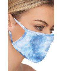 love changes 5-pack adult tie dye face masks, size one size - black