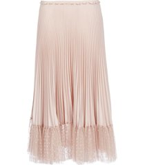 red valentino pleated with point desprit skirt