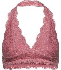 halter lace bralette lingerie bras & tops bra without wire rosa hunkemöller