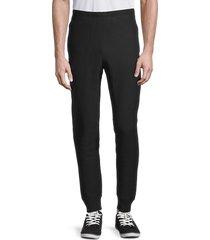 champion men's reverse weave cuffed pants - black - size l