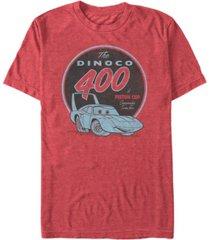 disney pixar men's cars the dinoco 400 a piston cup short sleeve t-shirt