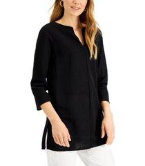alfani petite split-neck tunic, created for macy's