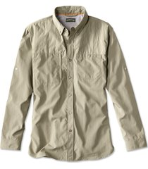 synthetic featherweight shooting shirt, sand, medium