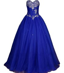 kivary crystals sweetheart long ball gown corset prom quinceanera pageant formal