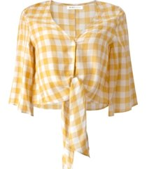 bcbgeneration gingham crop top
