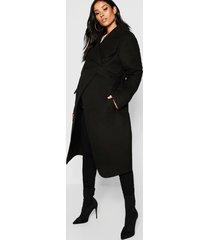 maternity wool look wrap front coat