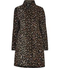 kappa francis wool coat, leopardmönstrad