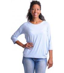 bluzka ciążowa simple rękaw 3/4 niebieski