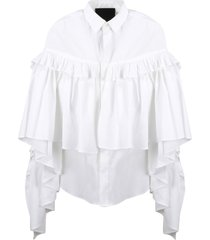 red valentino cotton stretch shirt