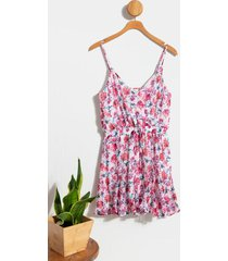 leila floral godet dress - assorted