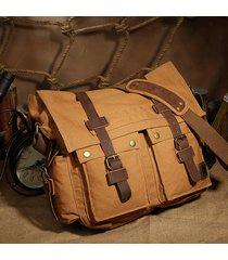 qisemian messenger bag in tela borsa a tracolla