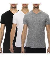 diesel 3 stuks jake v-neck t-shirt * gratis verzending *