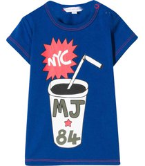 little marc jacobs blue t-shirt with multicolor press