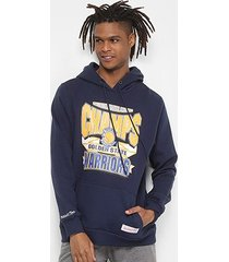 moletom mitchell & ness nba golden state warriors masculino