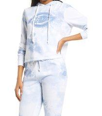 women's dickies tie dye crop hoodie, size x-large - blue