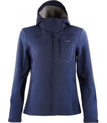 chaqueta macaya softshell hoody azul marino lippi