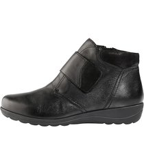 skor med kardborreband caprice svart