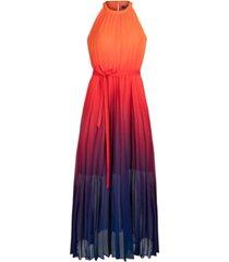 rachel rachel roy pleated ombre chiffon maxi dress