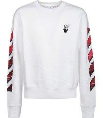 off-white sweatshirt marker slim crewneck