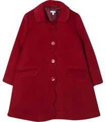 piccola ludo burgundy coat