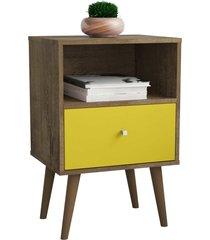 módulo 450 mb2014 madeira rústica/amarelo móveis bechara