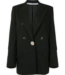 alexander wang longline single breasted blazer - black