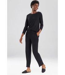 mirage pants, women's, black, size l, n natori