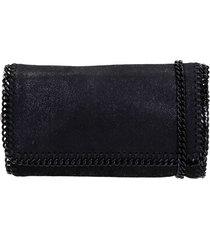 stella mccartney shoulder bag in black faux leather