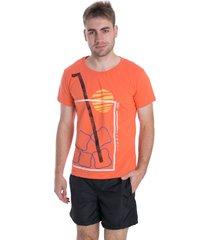 t-shirt osmoze dose 19 12689 44 laranja - laranja - masculino - dafiti