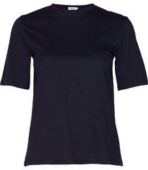 annie cotton t-shirt t-shirts & tops short-sleeved blauw filippa k
