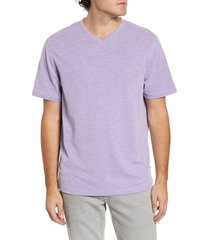 men's big & tall tommy bahama tropicool paradise v-neck t-shirt, size 4xb - purple