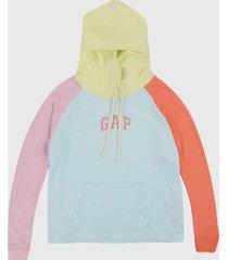 buzo aguamarina-multicolor gap