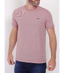 camiseta manga curta listrada masculina - masculino