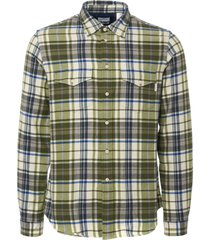ps by paul smith check shirt - light green m2r815-34