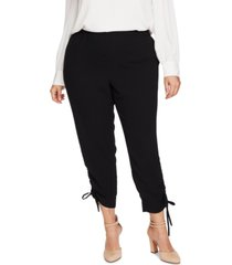 cece plus size side-ruched pants