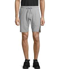 antony morato men's two-tone fleece shorts - medium grey - size m