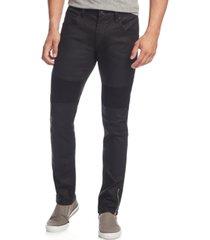 i.n.c. men's skinny-fit moto jeans, created for macy's