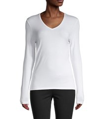 iconic v-neck long sleeve top