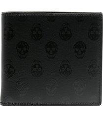 alexander mcqueen skull-print wallet - black