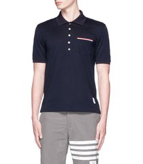 patch pocket polo shirt