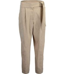 belted single pleat pant