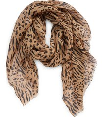 madewell cotton & linen sarong scarf in earthen sand at nordstrom