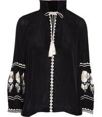 day crocus solid blouse lange mouwen zwart day birger et mikkelsen