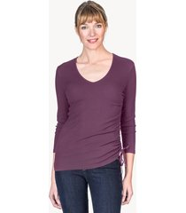 lilla p shirred side v-neck top